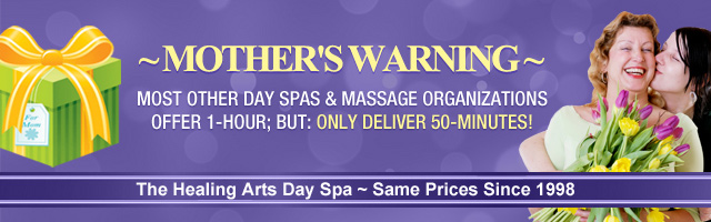 Mother's Day Spa Warning Banner